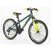 Bicicleta de aluminio con cambios Shimano para niños de 7 a 14 años, rueda de 24 pulgadas