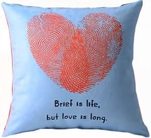 5SHEEPgs Battement de Coeur love you and me traces Housse de coussin 45,7 cm