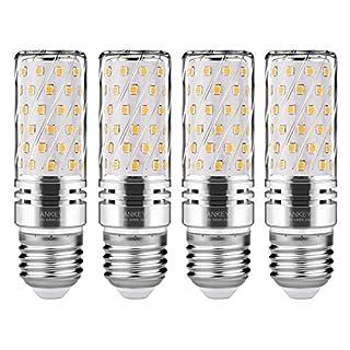 LED Silber Mais Glühbirnen E27 Warmweiß15W 120W Entspricht Glühbirnen Nicht dimmbar 3000K 1500Lm,CRI>80 +,Kleine Edison-Schraube Kerze Leuchtmittel - 4 Packs