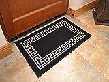 Black Greek Key Non Slip Machine Washable Rug. Available in 6 Sizes (50cm x 80cm)
