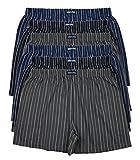 6 bedruckte & weiche 100% Baumwoll Herren Boxershorts Boxer Short in 6 oder 3 modischen Farben im 6er Set verfügbar in S M L XL 2XL 3XL 4XL & 5XL 6XL, Ohne Eingriff Set A, 2XL-8