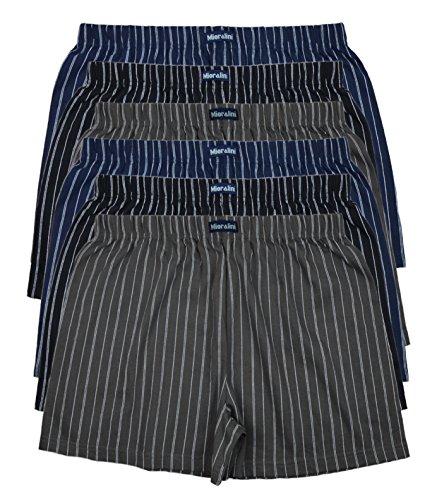 6 bedruckte & weiche 100{628b9503152561486d8bed1a1e9020ab4ffdc1dc5a31f4e22c24641477e2b31e} Baumwoll Herren Boxershorts Boxer Short in 6 oder 3 modischen Farben im 6er Set verfügbar in S M L XL 2XL 3XL 4XL & 5XL 6XL, Ohne Eingriff Set A, XL(7)
