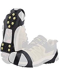 SOUMIT Schuhkrallen | Outdoor Steigeisen mit Stollen Grödel Spikes für Bodenhaftung auf Eis und Schnee, Laufen und Winterwandern (XL EU45-48, Länge: 24CM)