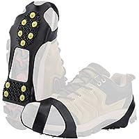 SOUMIT Schuhkrallen | Outdoor Steigeisen mit Stollen Grödel Spikes für Bodenhaftung auf Eis und Schnee, Schneewandern und Klettern (L EU39-46, Länge: 21,2CM)