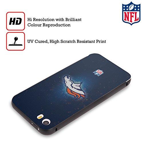 Ufficiale NFL Pattern 2017/18 Denver Broncos Nero Cover Contorno con Bumper in Alluminio per Apple iPhone 6 Plus / 6s Plus LED