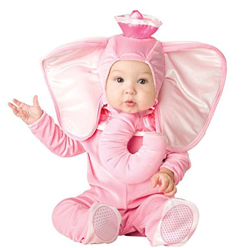 YYF Baby Jungen Mädchen Kleinkinder Animal Kostüm Halloween Party Jumpsuit Winter Strampler Elefant 90cm