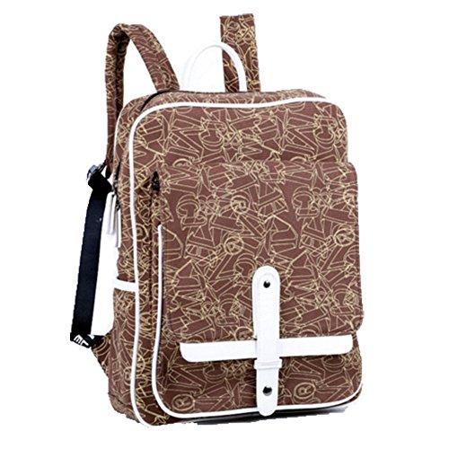 Ohmais Rücksack Rucksäcke Rucksack Backpack Daypack Schulranzen Schulrucksack Wanderrucksack Schultasche Rucksack für Schülerin cafe