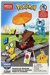 Mega Construx - Pokemon Froakie contra Dedenne, juguetes niños +6 años (Mattel GFV78)
