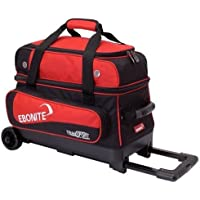 Ebonite Transport 2 Roller Bowling Bag- Red by Ebonite Bowling Products