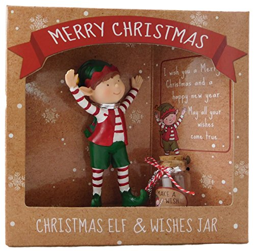 Natale in piedi Elf & Wishes Jar - Speciale regalo di Natale - Stocking Fillers - Secret Santa