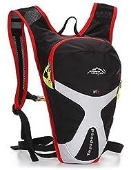 ERWAA 5L Mochila de Ciclismo/Bicicleta Impermeable Multifuncional Bolsa Senderismo Deportes al Aire Libre Hidratación de Agua Para Unisex Hombre Mujer