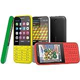 Nokia A00019213 225 Mobiltelefon (7,10 cm (2,8 Zoll) Display, 2 Megapixel Kamera, micro-USB 2.0, Bluetooth 3.0, mini-SIM, UKW-Radio) schwarz