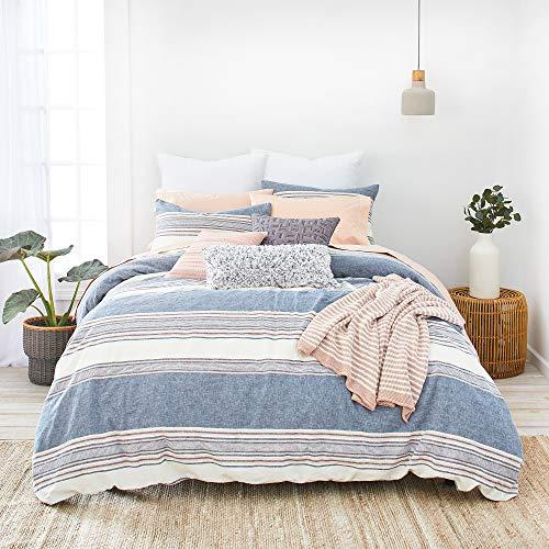 Splendid Home Tuscan Stripe Comforter Set Full/Queen Navy/Multi -