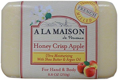 Honey Crisp dApple Bar Soap, 8,8 oz (250 g) - A La Maison de Provence