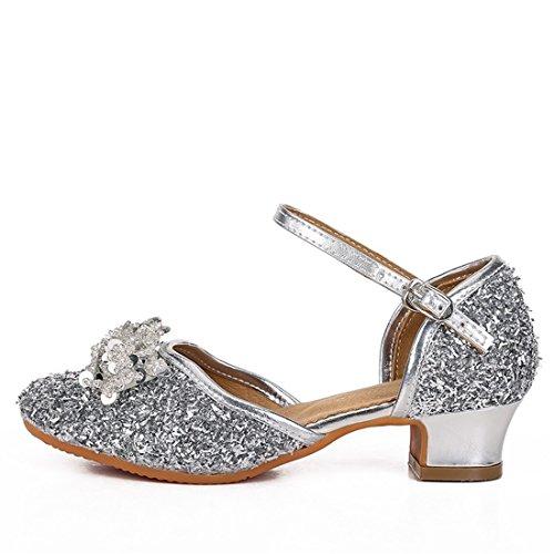 Wxmddn Ladiesscarpe balletti scarpe danza scarpe tango ginnastica danza jazz scarpe danza allenatori scarpe pratica performance Dance scarpe per ragazze donne Argento