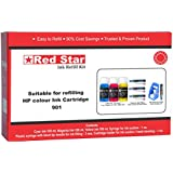 [Sponsored]Red Star Ink Refill Kit For HP 901,818,803,802,704,703,680,678,57,46,28,22 Color Cartridge ( 3 X 100 Ml Color Ink, 3 Syringes With Blunt Tip Needles, Cartridge Head Cleaning Tools)