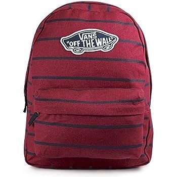c28b0120e73 Vans Realm Backpack Casual Daypack, 42 cm, 22 Liters, Tibetan Red Stripe