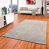 Palace Hochflor Shaggy Teppich Grau in 24 Größen