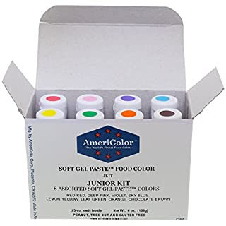 AmeriColor 'Junior' Soft Gel Paste Food Colour 8 Pack Kit