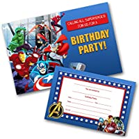 Avengers Party Invitations Pack & Envelopes (WRITE ON) Click customize for prices