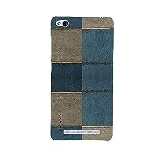 RICKYY _Mi3s_1051 Printed Matte designer Blue and Broun cloth case for Redmi 3S