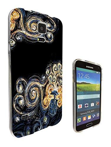 452 - doctor who tardis van gogh canvas Design Samsung Galaxy S5 Mini Fashion Trend Silikon Hülle Schutzhülle Schutzcase Gel Rubber Silicone Hülle (Mini Canvas Gucci)