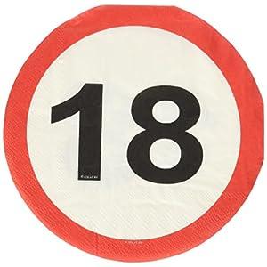 Traffic Schild Geburtstag Party Servietten (20Stück)–18. Geburtstag