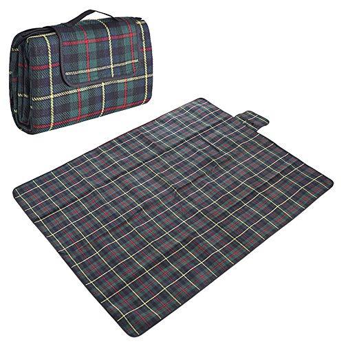 BBG Familienreisen Camping Decke-Outdoor Tragbare Maschinenwäsche Picknickdecke Große Dicke Wasserdichte Zelt Teppich Camping 150 X 200 Cm,Marine -