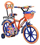#8: eStofers® Ollmii™ 16 inch(Blue and Orange) Unisex Kids Cycle for 5 to 7 years age group