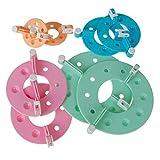 4 Tamano Pompon Hacedor Pelusa Bola Tejedor - Color Aleatorio Fluff Ball Weaver