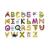 Solini Holzbuchstaben mit Tiermotiven / Buchstaben für Tür, Bett, Schrank / Länge: 7 cm / ab 3 Jahre