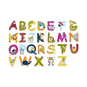 solini holzbuchstaben mit tiermotiven buchstaben f r t r bett schrank l nge 7 cm ab 3 jahre. Black Bedroom Furniture Sets. Home Design Ideas