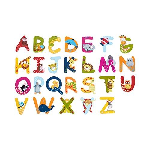 SOLINI Holzbuchstaben mit Tiermotiven, Holzbuchstabe - A