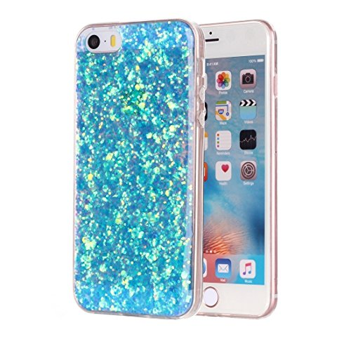 YAN Für iPhone 5 & 5s & SE Glitter Powder Soft TPU Schutzhülle ( Color : Pink ) Blue