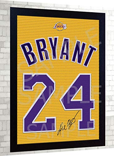 SGH SERVICES New Kobe Bryant LA Lakers Autogramm Basketball NBA gerahmt, 100% Baumwolle