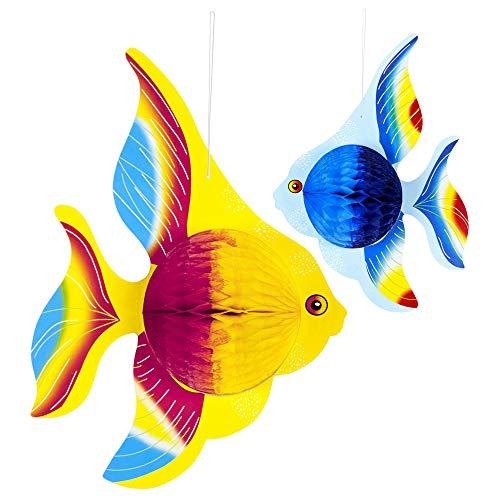 WIDMANN 95765 Wabenbälle Tropenfisch Unisex- Erwachsene Mehrfarbig Einheitsgröße