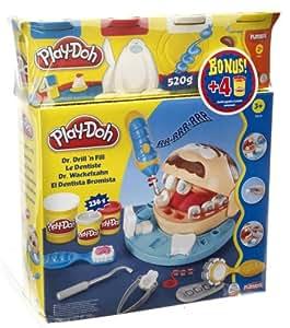 play doh 206281480 p 226 te 224 modeler le dentiste 4 pots fr jeux et jouets
