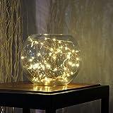 Descripción del producto: BUYERTIME 5M/16.4Ft 50 LEDs Cadena de Luces Impermeable Flexible de Alambre de Plata con Caja de Batería AA(Batería No Incluye) para Iluminación DIY, Navidad y Decoración Fiesta - Blanco Cálido Usted puede hacer cual...