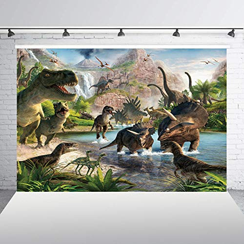nd,Fotografie Hintergrund Dinosaurier Jungle Birthday Party Kulissen Für Foto Hintergrund Für Bilder Baby-Dusche @ 300X200Cm_Thin_Vinyl ()