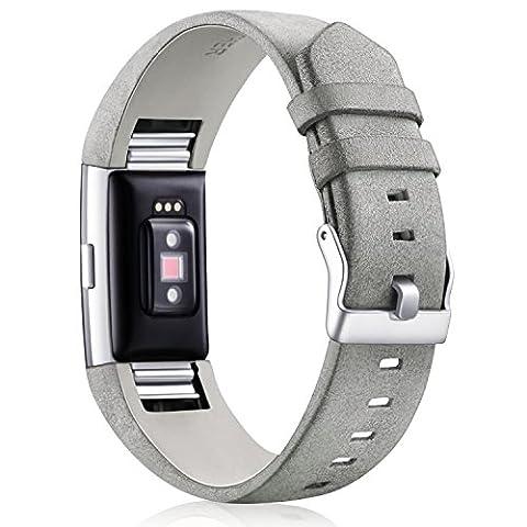 Fitbit Charge 2 Armband Leder Band, Mornex Verstellbare Ersatzarmband für
