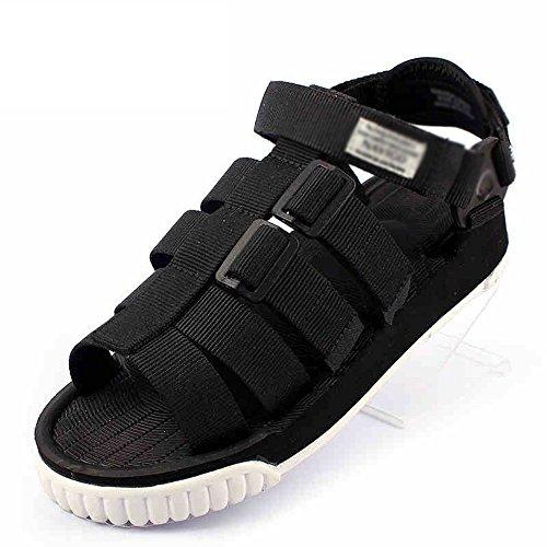 MAZHONG basses Sandales pour hommes d'été sandales anti-dérapantes jeunes étudiants occasionnels chaussures de plage en plein air