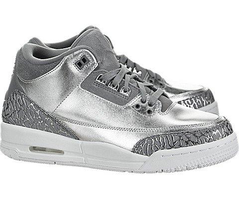 Air 10 3 Jordan Size (Nike Air Jordan 3 Retro Womens HC 'Chrome' - AA1243-020 - Size 10 -)