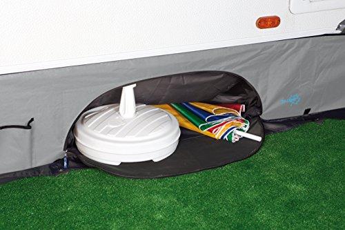 Bo Camp Bodenschürze für Caravan Wohnwagen Streifenvorhang Hänge Schrank Organizer Rad Sonnen Schutz