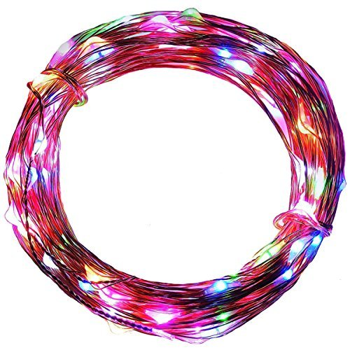 Angelina 2 Set 2 Meter 20 LED Micro Silber Wire Batterie betrieben Powered Fairy String Lights RGB Blinkt