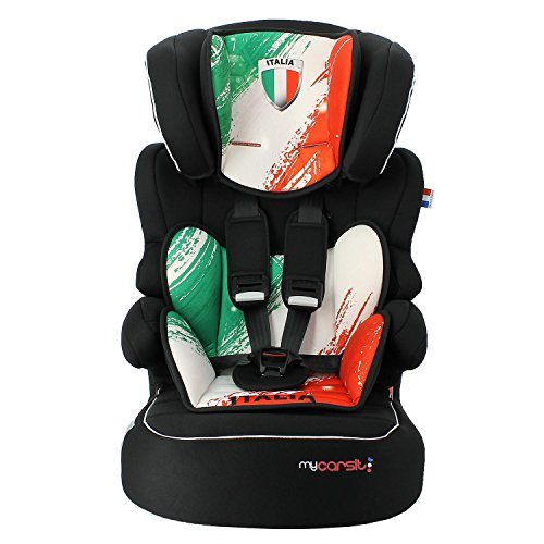 Mycarsit Siège Auto, Groupe 1/2/3 (de 9 à36 kg), Motif Italia