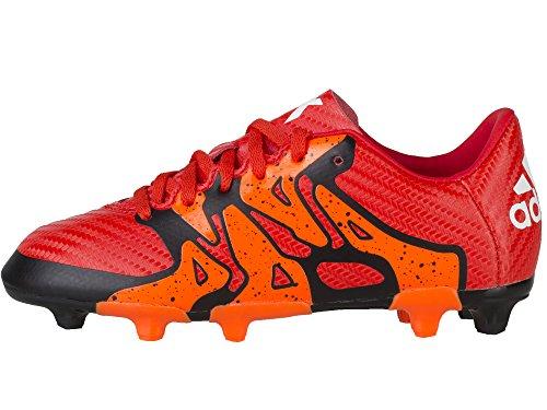adidas - X15.3 FG/AG, Scarpe da calcio Unisex – Bambini Rosso