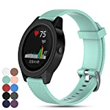 Für Garmin Vivoactive 3 GPS Smartwatch Armband, Feskio Ersatz Weich Silikon Sport Schnellverschluss Armband Gurt für Garmin Vivoactive 3