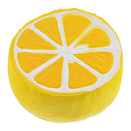 HIFUAR Yellow Lemon Slow Rising Jumbo Squishies Kawaii Scented Toy Extrusion Rebound Plaything for Adult and Kids (11cmx9.5cm)