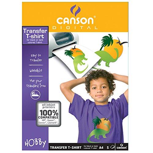 Canson Infinity 987240 - Papel de impresión en camisetas para telas oscuras a33674d6a1cbc