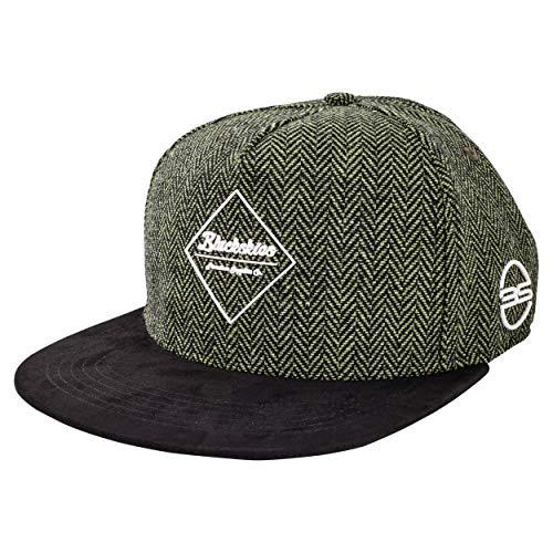 9fde58f006 Blackskies Rhea Snapback Cap | Damen Herren Premium Baseball Mütze Kappe  Skater Wolle - Grün Schwarz